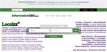 InformationCEO.com  - National to local business and information listings.
